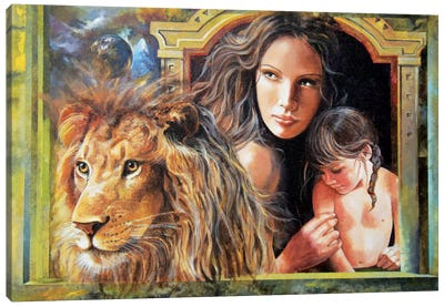 Protection Canvas Art Print