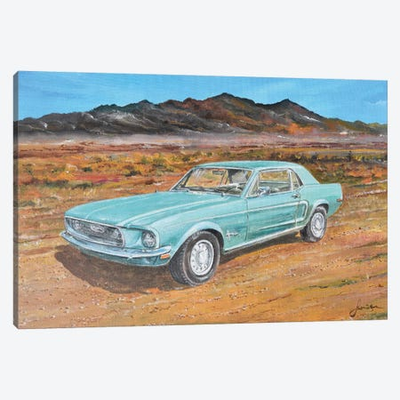 1968 Ford Mustang Canvas Print #SNS106} by Sinisa Saratlic Canvas Art