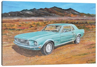 1968 Ford Mustang Canvas Art Print