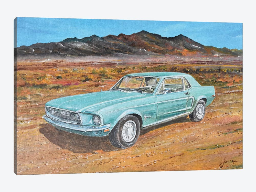 1968 Ford Mustang by Sinisa Saratlic 1-piece Art Print