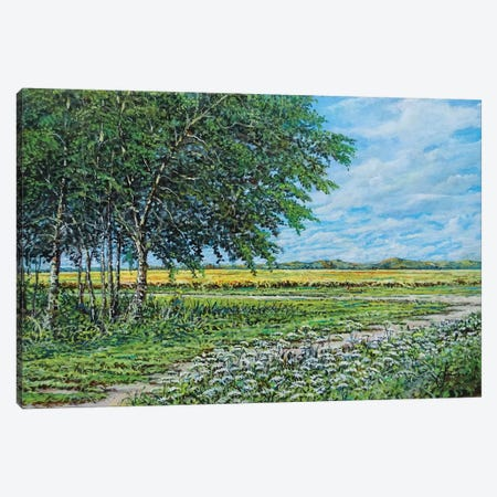 Summer Field Canvas Print #SNS107} by Sinisa Saratlic Canvas Art
