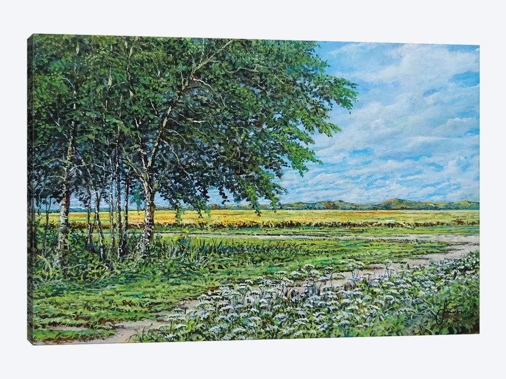 Summer Field by Sinisa Saratlic 1-piece Canvas Art