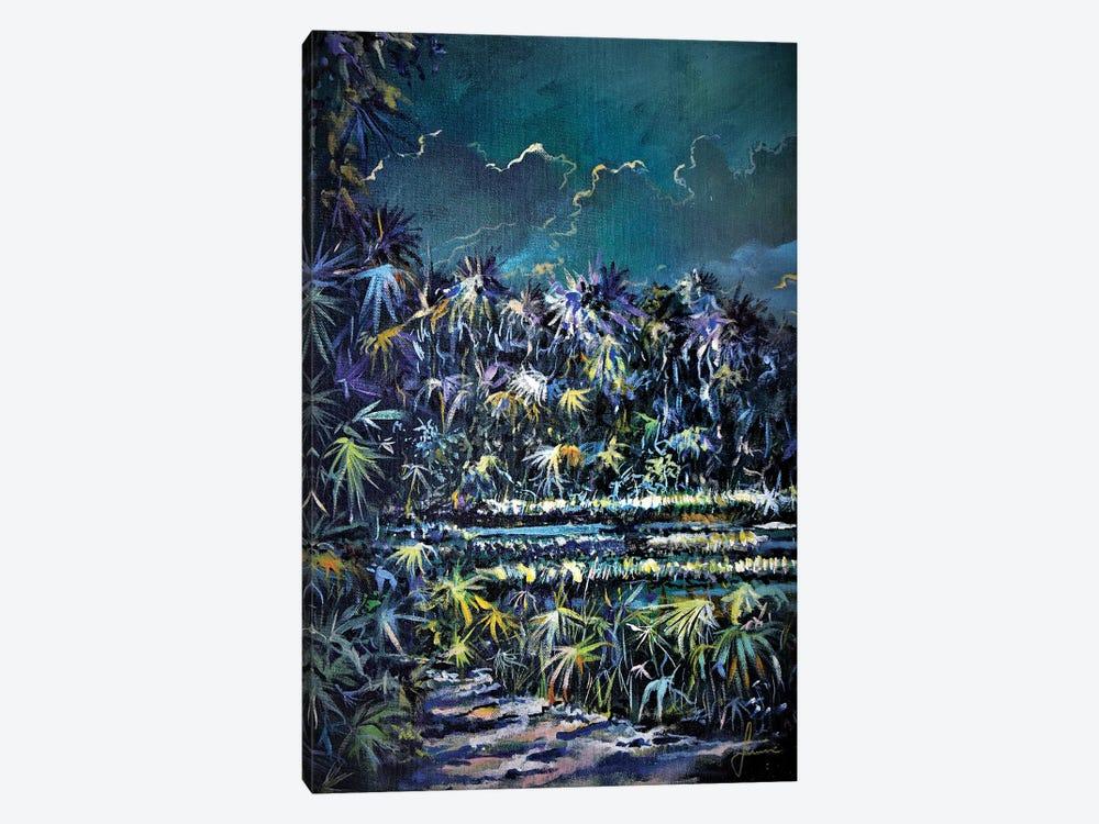 Midnight Palms by Sinisa Saratlic 1-piece Canvas Print