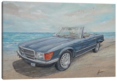 1984 Mercedes-Benz 500 Sl Canvas Art Print