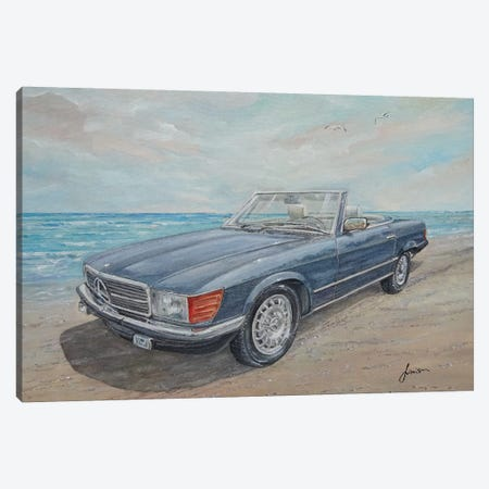 1984 Mercedes-Benz 500 Sl Canvas Print #SNS119} by Sinisa Saratlic Canvas Wall Art
