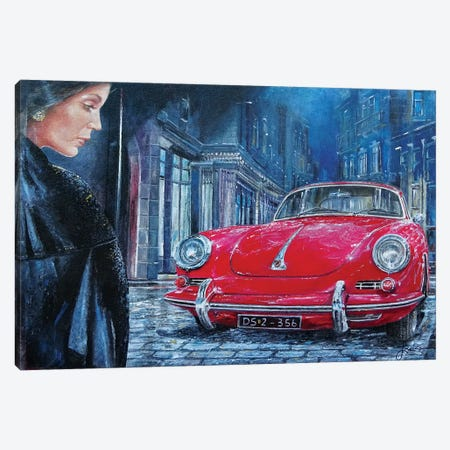 1964 Porsche 356 C Canvas Print #SNS11} by Sinisa Saratlic Canvas Art