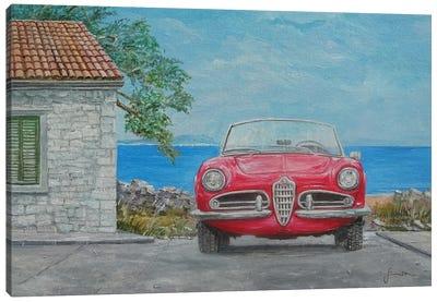 1962 Alfa Romeo Giulietta Spider Veloce Canvas Art Print