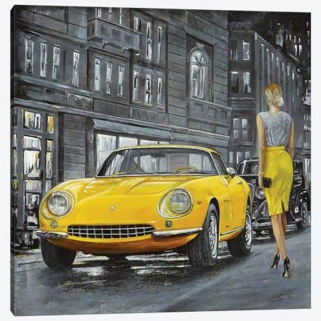 1965 Ferrari 275 GTB 3-Piece Canvas #SNS12} by Sinisa Saratlic Canvas Artwork