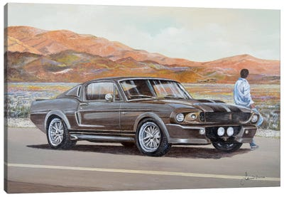 1967 Ford Mustang Fastback Eleanor Canvas Art Print