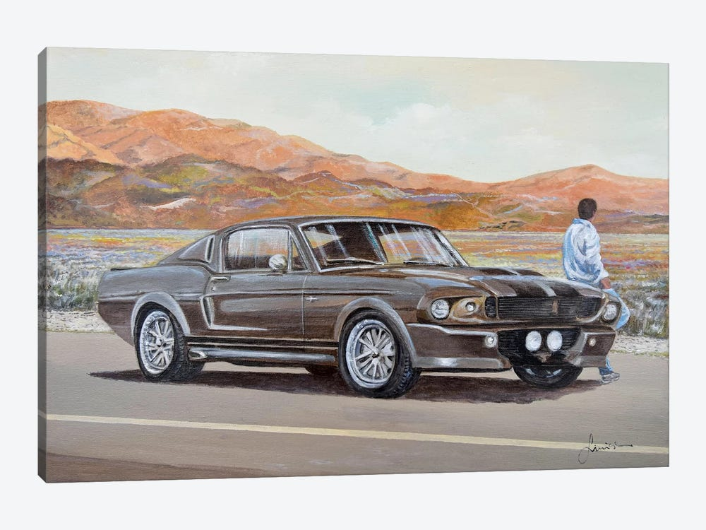 1967 Ford Mustang Fastback Eleanor by Sinisa Saratlic 1-piece Canvas Artwork