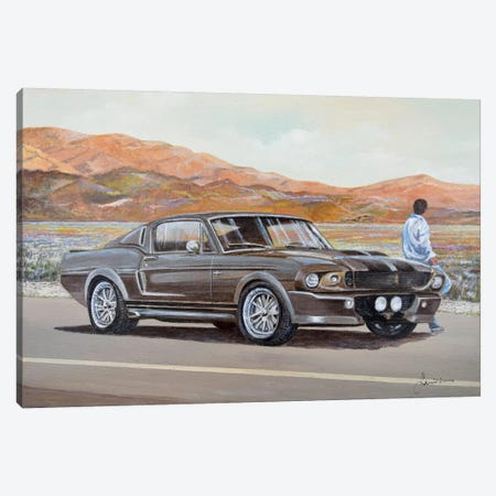 1967 Ford Mustang Fastback Eleanor Canvas Print #SNS15} by Sinisa Saratlic Canvas Print