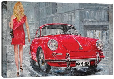 1967 Porsche 356 C Canvas Art Print