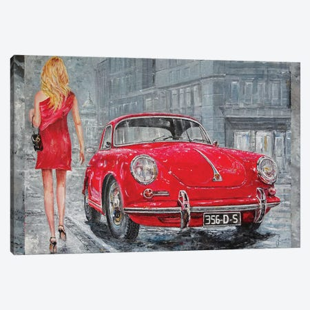 1967 Porsche 356 C Canvas Print #SNS16} by Sinisa Saratlic Canvas Print