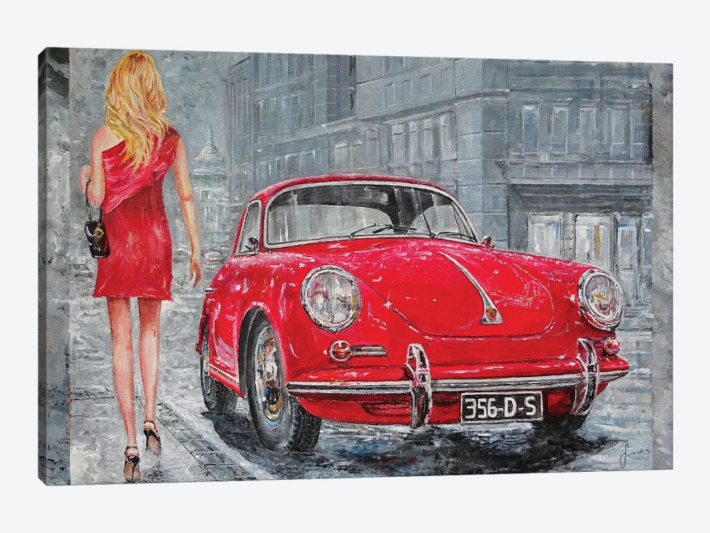 1967 Porsche 356 C by Sinisa Saratlic 1-piece Art Print