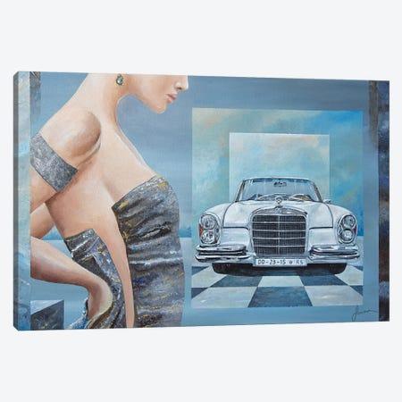 1968 Mercedes-Benz 280 SE Cabriolet Canvas Print #SNS19} by Sinisa Saratlic Canvas Art