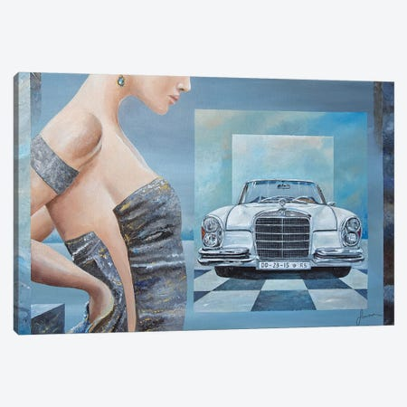 1968 Mercedes-Benz 280 SE Cabriolet Canvas Print #SNS19} by Sinisa Saratlic Canvas Art