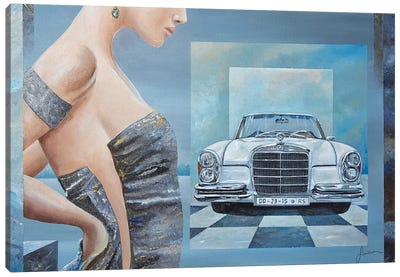 1968 Mercedes-Benz 280 SE Cabriolet Canvas Art Print