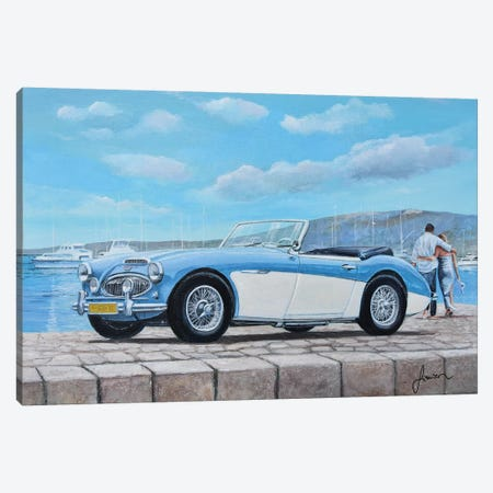 1952-1967 Austin Healey Canvas Print #SNS1} by Sinisa Saratlic Canvas Art