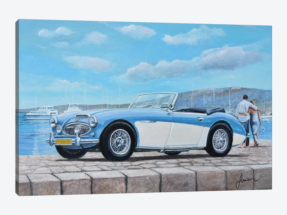 1952-1967 Austin Healey by Sinisa Saratlic 1-piece Canvas Art