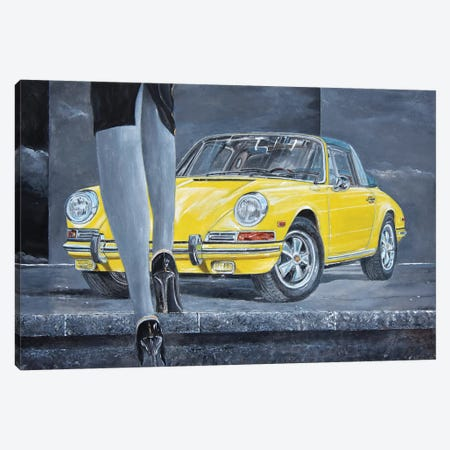 1968 Porsche 911 Targa Canvas Print #SNS20} by Sinisa Saratlic Art Print