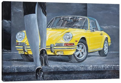 1968 Porsche 911 Targa Canvas Art Print