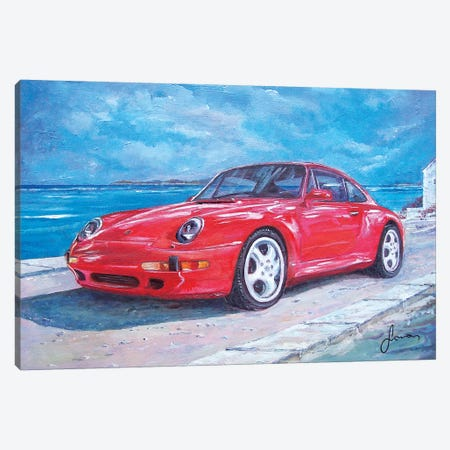 1997 Porsche Carrera S Canvas Print #SNS26} by Sinisa Saratlic Canvas Art