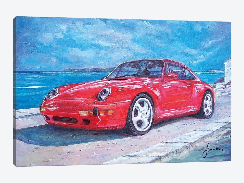 1997 Porsche Carrera S by Sinisa Saratlic 1-piece Canvas Art