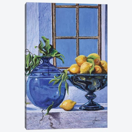 Lemons Canvas Print #SNS36} by Sinisa Saratlic Art Print