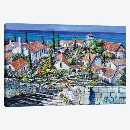Mediterraneo Canvas Print #SNS37} by Sinisa Saratlic Art Print