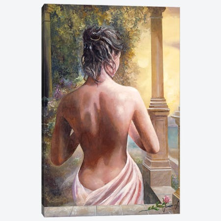 On The Doorway Canvas Print #SNS43} by Sinisa Saratlic Canvas Print