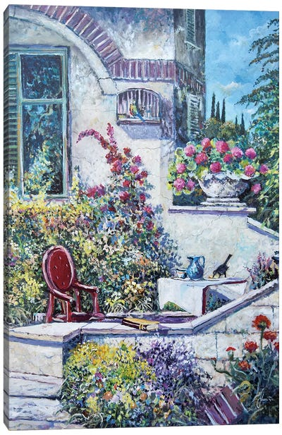 On The Porch Canvas Art Print