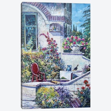 On The Porch Canvas Print #SNS44} by Sinisa Saratlic Canvas Artwork