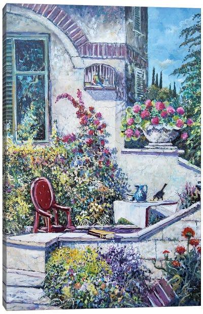 On The Porch Canvas Art Print