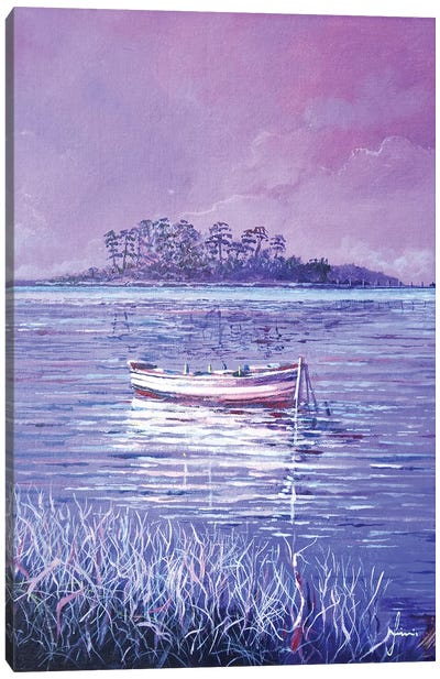 Pink Marsh Canvas Art Print