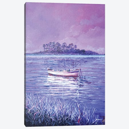 Pink Marsh Canvas Print #SNS45} by Sinisa Saratlic Canvas Art