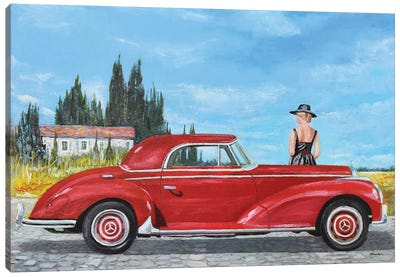 1957 Mercedes-Benz 300 Coupe Canvas Art Print