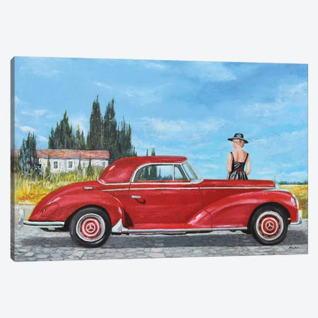 1957 Mercedes-Benz 300 Coupe Canvas Print #SNS5} by Sinisa Saratlic Canvas Print