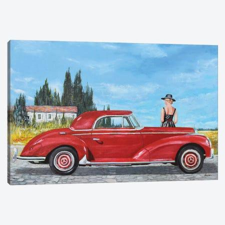 1957 Mercedes-Benz 300 Coupe 3-Piece Canvas #SNS5} by Sinisa Saratlic Canvas Print