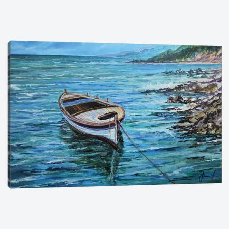 Boat Canvas Print #SNS68} by Sinisa Saratlic Canvas Art Print