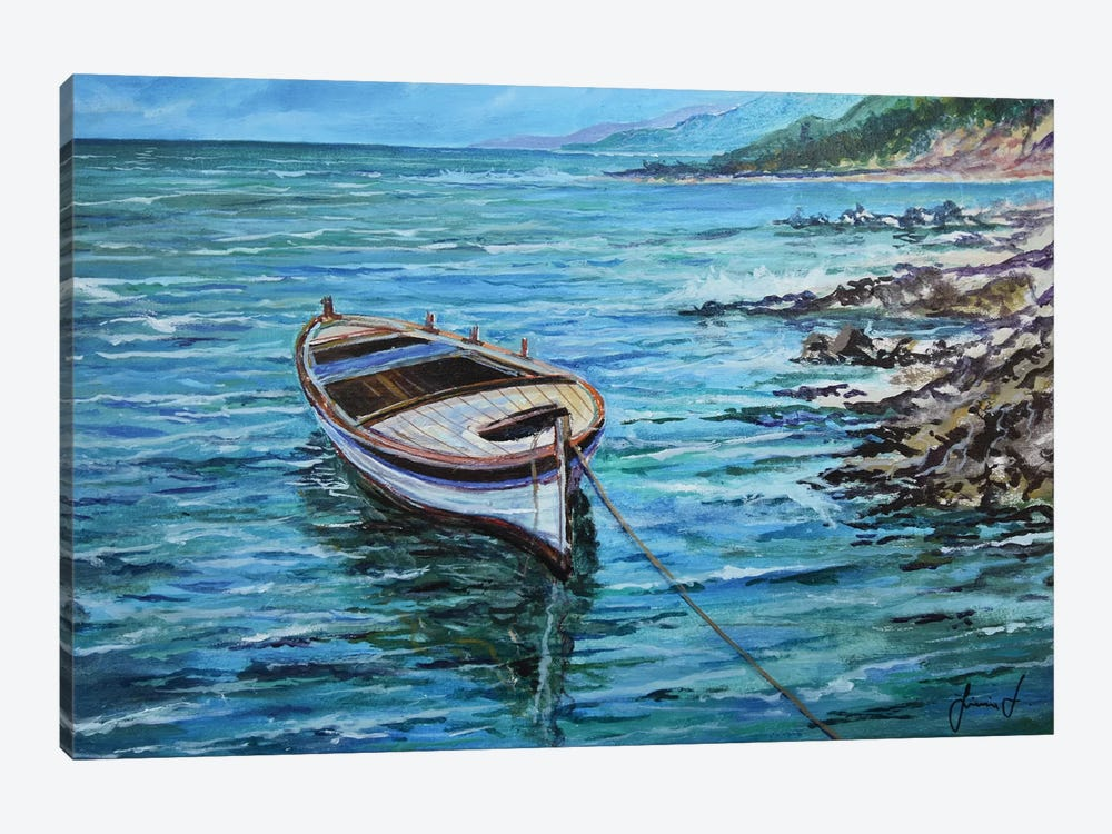 Boat by Sinisa Saratlic 1-piece Canvas Artwork