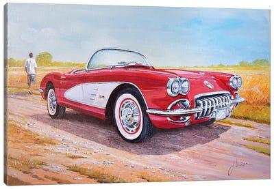 1959 Chevrolet Corvette Cabriolet Canvas Art Print