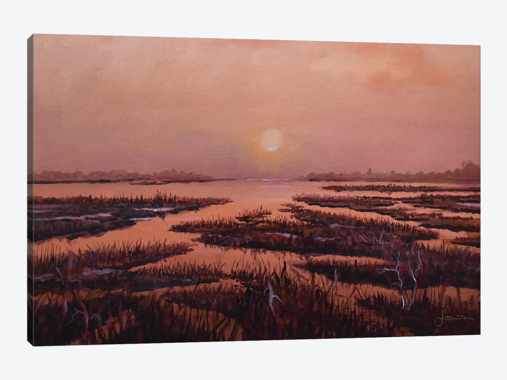 Red Marsh 1-piece Canvas Wall Art