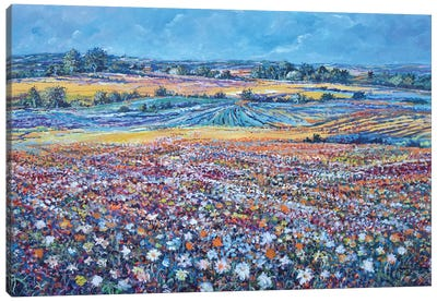 Flower Field Canvas Art Print