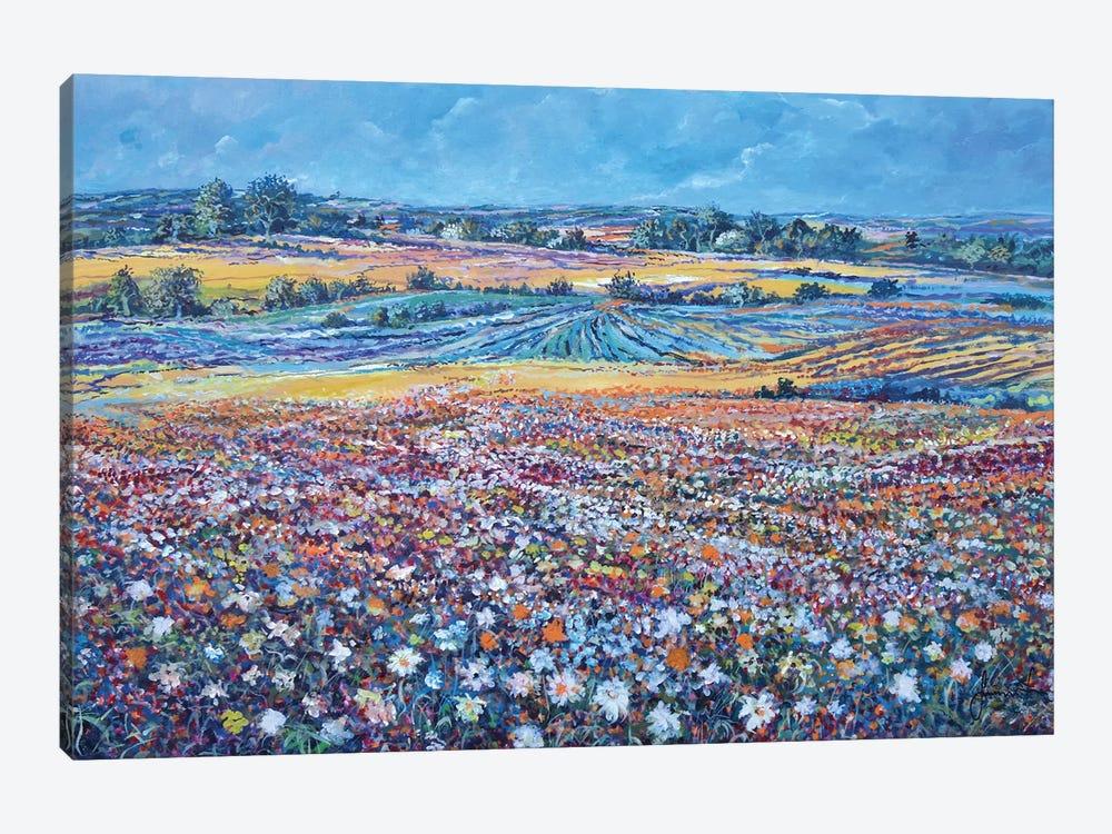 Flower Field by Sinisa Saratlic 1-piece Canvas Art Print