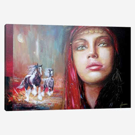 Gypsy Beauty Canvas Print #SNS79} by Sinisa Saratlic Canvas Art