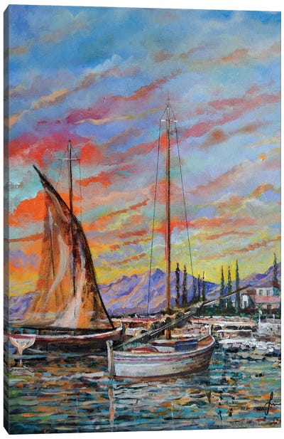 Boats Canvas Art Print