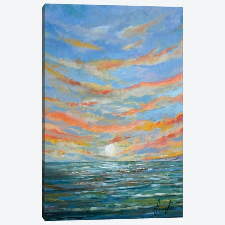 Sunset Canvas Print #SNS82} by Sinisa Saratlic Art Print