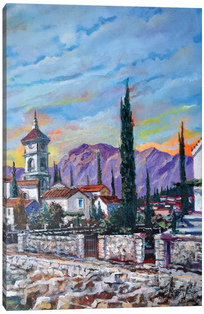 Old Village Canvas Art Print