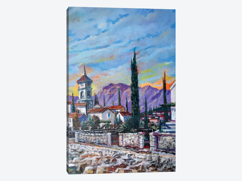 Old Village by Sinisa Saratlic 1-piece Canvas Art Print