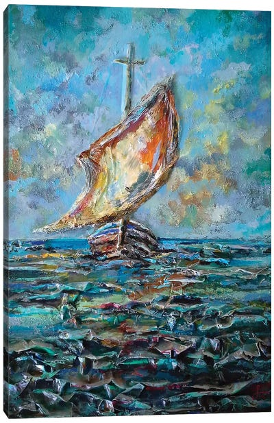 Sailing Boat Canvas Art Print